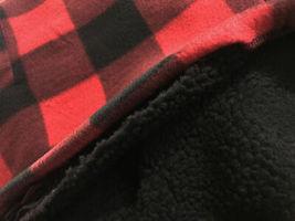 Men's Heavyweight Flannel Zip Up Fleece Lined Plaid Sherpa Hood Jacket w/Defect image 3