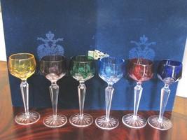 FABERGE Set of 6 Colored Lausanne Liqueur Glasses  - $975.00