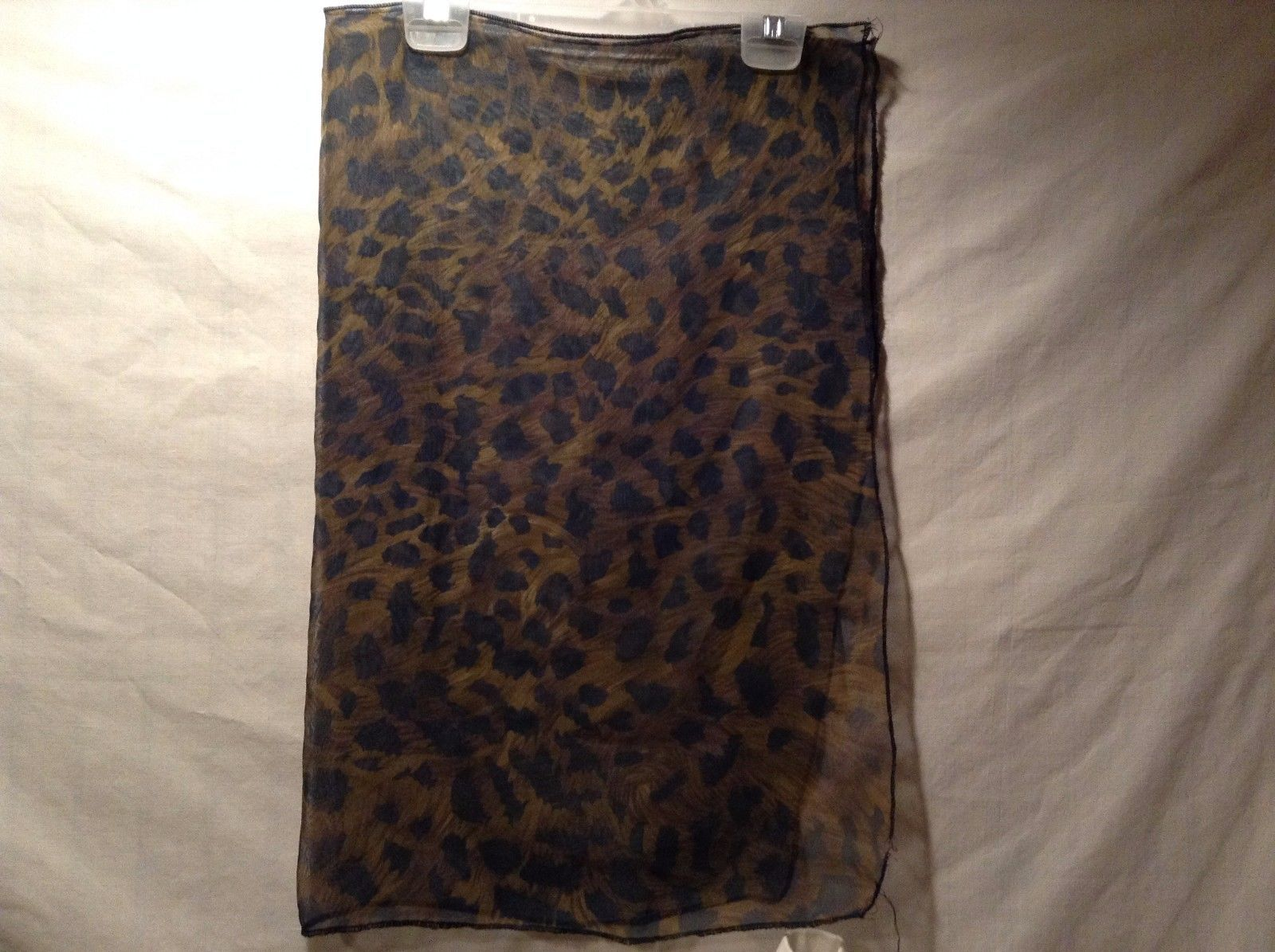 Great Used Condition Brown Black Sheer Animal Print Scarf