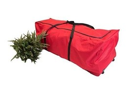 Christmas Tree Storage Bag Rolling Duffel 9 Ft Steel Frame Wheels Handle... - $84.65