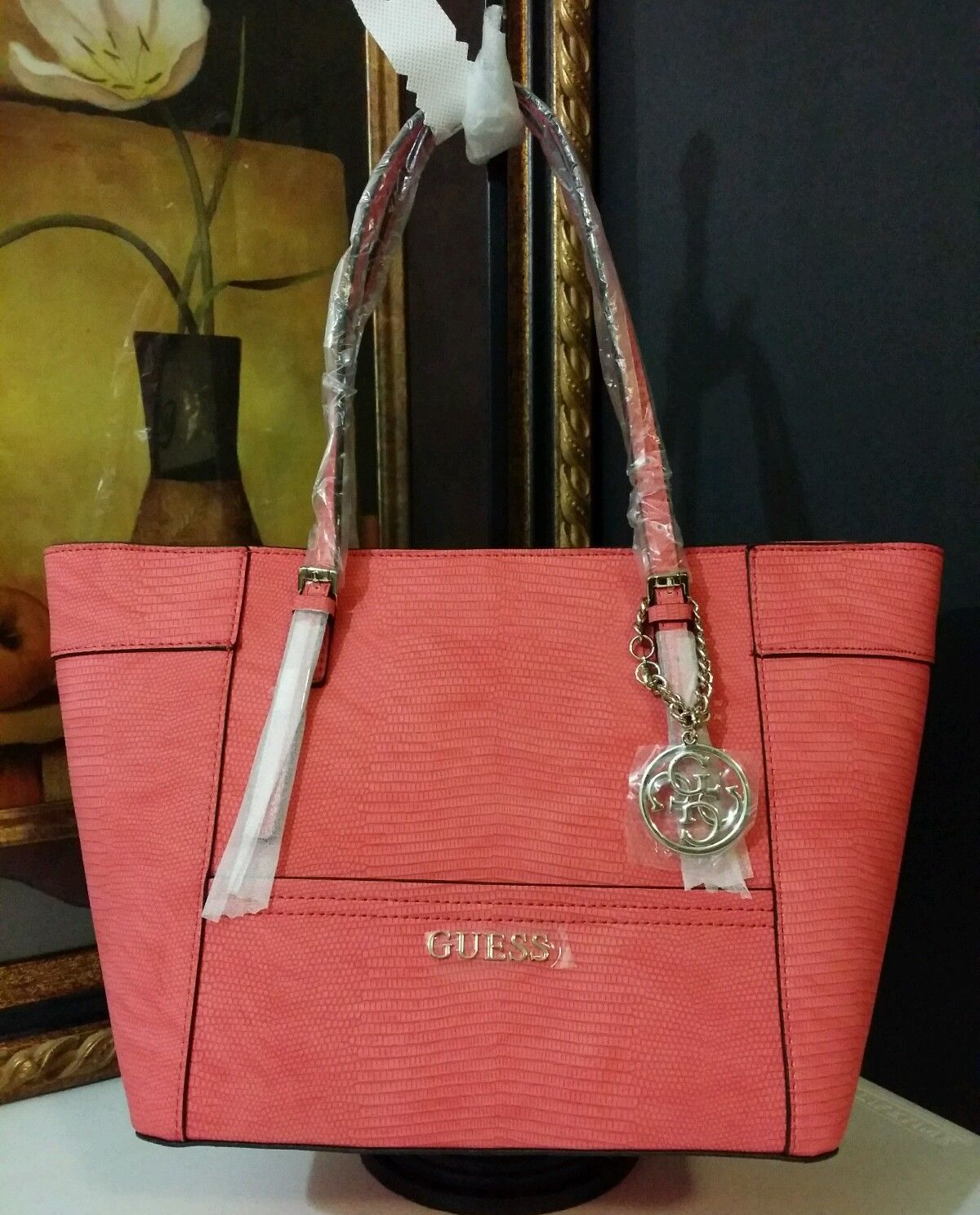 NWT GUESS Delaney Small Classic Tote Passion PY453522