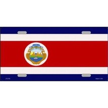 COSTA RICA FLAG METAL LICENSE PLATE MADE IN USA - $28.49