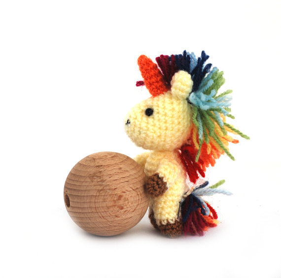 Crochet Unicorn Doll : ... amigurumi unicorn, stuffed unicorn doll, miniature unicorn toy - Dolls
