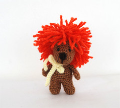 fearless LION doll, crochet lion, be like a lio... - $26.66
