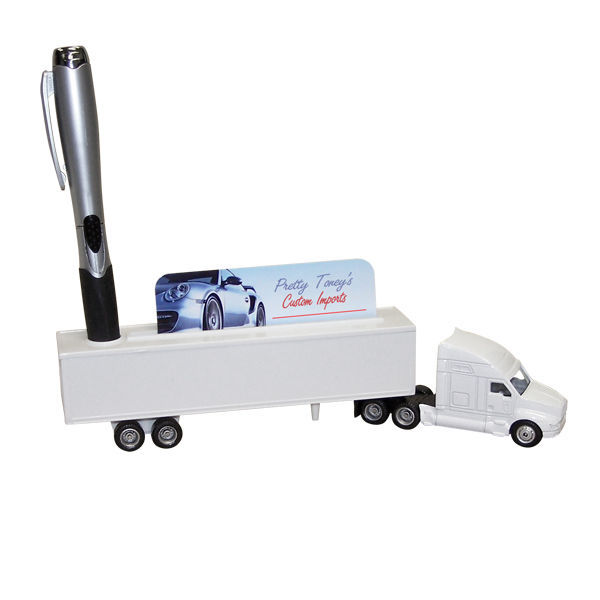 Wholesale Lot of 144 Hauler Truck with Card Pen Holder Promo Item Your Logo Here