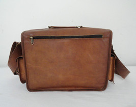 "14"" Real Leather DSLR Camera Bag Padded Briefcase Macbook Satchel Messenger bag image 6"