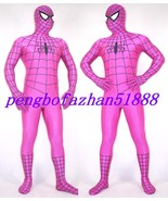 HALLOWEEN COSPLAY SUIT HOT PINK SPIDERMAN HERO SUIT CATSUIT COSTUMES UNI... - $49.99