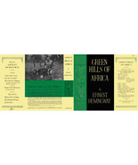 Hemingway GREEN HILLS OF AFRICA facsimile dust ... - $21.78