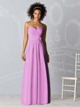 After Six 6610...Full length, Strapless, Chiffon Dress...Tulip....Sz 6 - $29.69