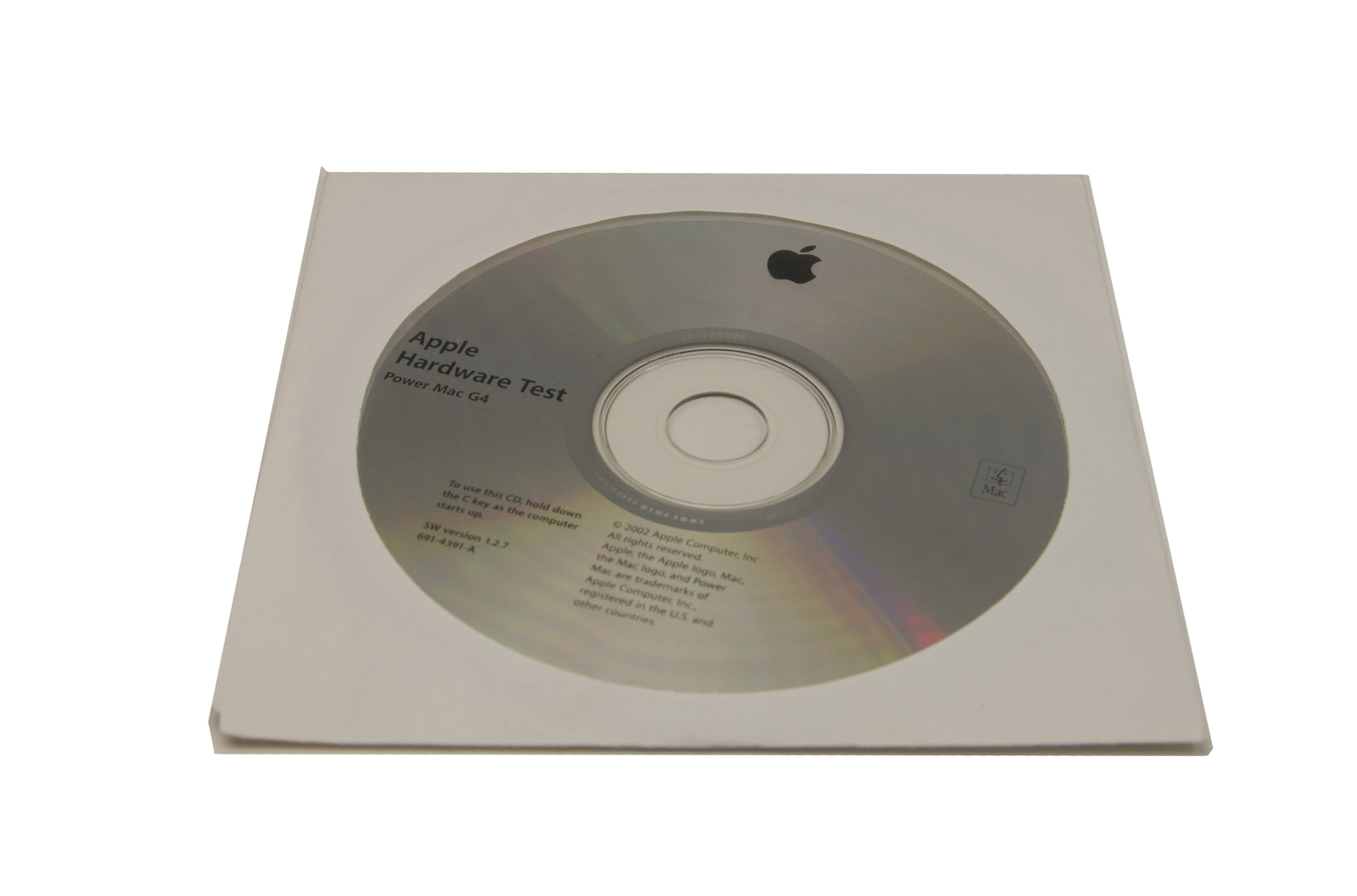 Apple Hardware Test 1.2.7  CD for Power Mac G4 (2002)