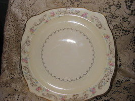 Paden City Pottery DUCHESS LACE Square Salad Plate  - $18.00