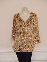 DIANE von FURSTENBERG CLAUDE TEA CAKES TUNIC TOP BLOUSE - US 10 - UK 14 - $93.54