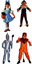 Wizard of Oz Scarecrow /Dorthy/ Lyion/ Tin childs Costume & Glinda the g... - $24.00