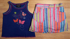 Girl's Size 12 M 9-12 Months 2 Pc The Children's Place Blue Butterfly To... - $17.00