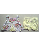 Gorgeous Girl's Size 3-6 M Months Laced Yellow Floral Top & Bloomer Set ... - $16.00