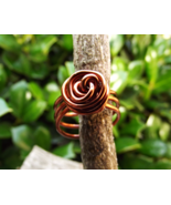 Ascension Energy Boosting Copper Rose Ring Wire Wrapped Size 8 - $30.00