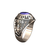 LADIES TRADITIONAL COLLEGE RING-STERLING SILVER - $199.00