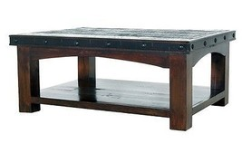 Rustic Old West Gran Hacienda Coffee Table Solid Hardwood Lodge Shabby Chic - $613.75