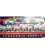 NEW 750-pc Panoramic Jigsaw PUZZLE~Xmas PUPPIES... - $14.84