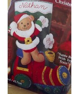 Bucilla Felt Bead Sequin KIT~SANTA BEAR+TOY TRA... - $29.69