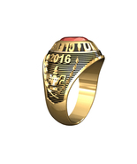 LADIES TRADITIONAL COLLEGE RING-10KT GOLD - $499.00