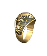 LADIES TRADITIONAL COLLEGE RING-14KT GOLD - $639.00