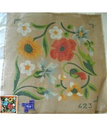 NEEDLEPOINT CANVAS~HP?~MOISSON #623~Abstract FL... - $32.66