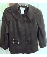 Chic JACKET Black+Silver Tweed poly/rayon~6~Cha... - $39.59