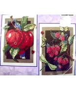 Counted Cross Stitch CCS KIT~APPLE+RASPBERRIES~... - $19.79