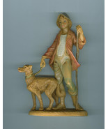 Fontanini 5 In Zachariah Shepherd With Dog  Nativity Collection Christma... - $14.99