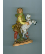 Fontanini 5 In Aaron Shepherd With Sheep Nativity Collection Christmas  Box - $14.99