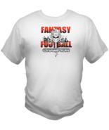 Fantasy Football Champion Mens White T Shirt Skull Design Short Sleeve L... - $19.99