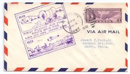 1932 First Flight AM 18 Sioux City Iowa Air Mail Event Cover Sc C12 - $4.99