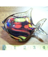 Schroder`s Handblown Glass Fish Paperweight New Zealand! - $30.00