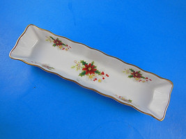 "Royal Albert Old Country Roses 8¼"" Long Mint Candy Nut serving dish bone... - $18.55"