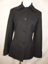 Genny Moda jacket 42 8 black button down front ... - $32.66