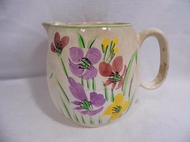 vintage Cranberry England china Floral pattern PITCHER - $15.99