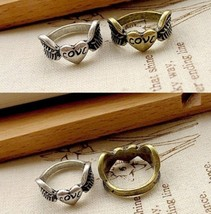 Vintage Flying Heart Ring(Color:/Bronze/Vintage Silverj) - $4.80