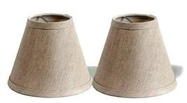 Urbanest Pure Linen Chandelier Lamp Shades, 6-inch, Hardback Clip On, OatmealSet - $19.33
