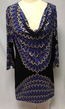 CLUBBING DRESS! INC PRINTED LOW NECKLINE DRESS SZ L - $28.04