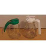 Vintage Syrup/Sugar Dispensers Green-Federal Ho... - $3.95