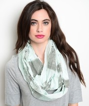 Women's Knit Cowl & Infinity Scarves - Mint City of London (J0159446) - $9.99
