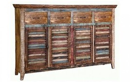 Quality Rustic Cabana 4 Door 4 Drawer Sideboard, Console - $1,163.25