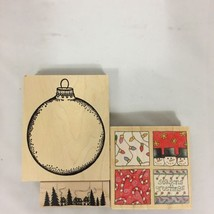 Set of Three Christmas Stamps Christmas Squares... - $23.36
