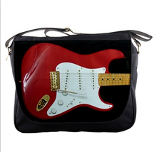messenger bag the shadows red guitar cult guitarrist unisex band musicians  - $39.79