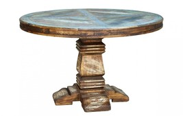 "Quality Rustic Cabana Multi Color 50"" Round Dining Table - $1,183.05"