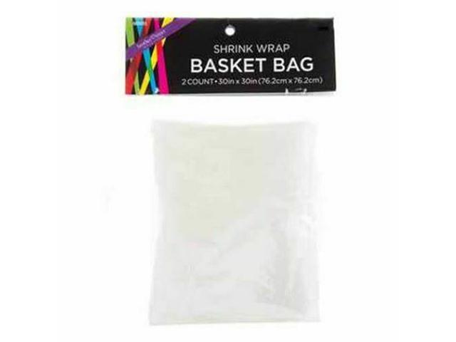 """Shrink Wrap Basket Bag - 2 Count - 30"""" x 30"""" - Great for Gift Baskets! #603415"""