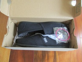 BNIB BOBS from Skechers Women's Plush Peace and Love Flat shoes, size 6.5. black - $44.53