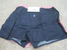 BNWT Jockey men's 2pk slim fit classic boxers, navy dots/red checks, L, ... - $9.95