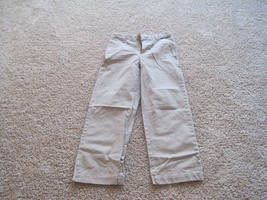 Gap boys khaki pants, age 12, pre-owned, hardly worn, adjustable waist, beige - $5.00